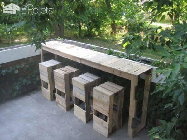 Outdoor Pallets Bar & Pallet Stools Pallet Bars Pallet For Outdoor Projects