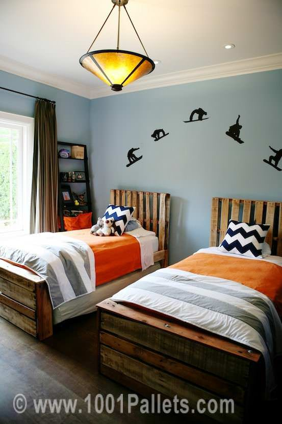 Pallet Twin Beds Bedroom Pallet Projects Pallet Beds & Headboards