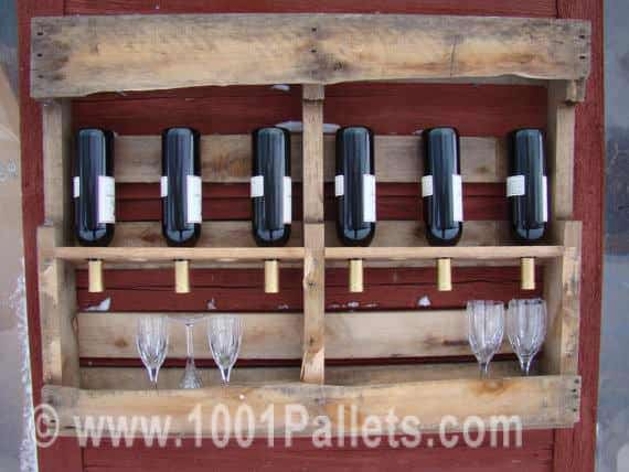 Upcycled Pallet Into Wine Rack Kitchen Pallet Projects Pallet Shelves