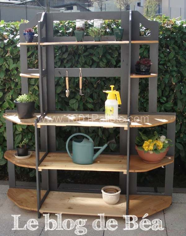 DIY: Shelf Made of Reclaimed Pallet Wood Pallet Furniture Pallet Shelves