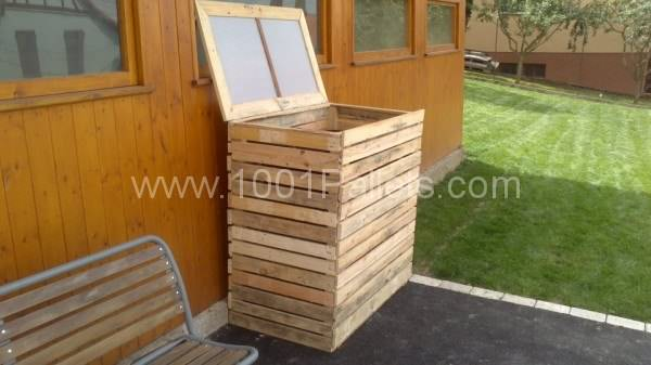 Pallet Garbage Bins Shelter Pallet For Outdoor Projects Pallet in The Garden
