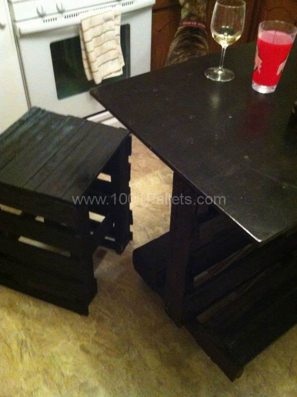 Kitchen Island Made From Upcycled Pallet wood Kitchen Pallet Projects Pallet Furniture