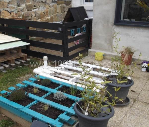 Pallets Garden Decoration And Dog House Pallet For Outdoor Projects Pallet in The Garden