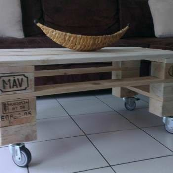 Pallet Coffee Table / Table Basse De Salon En Palette Recyclée