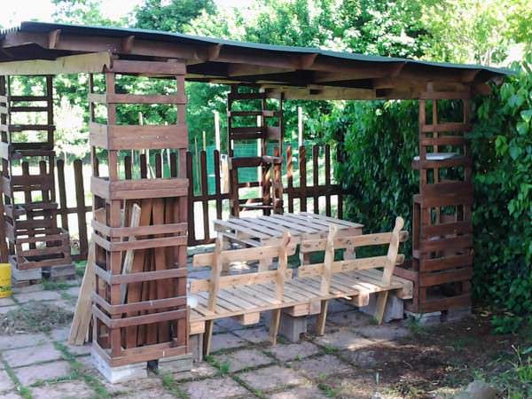 Gazebo - Pallet Shelter Pallet Huts, Cabins & Playhouses