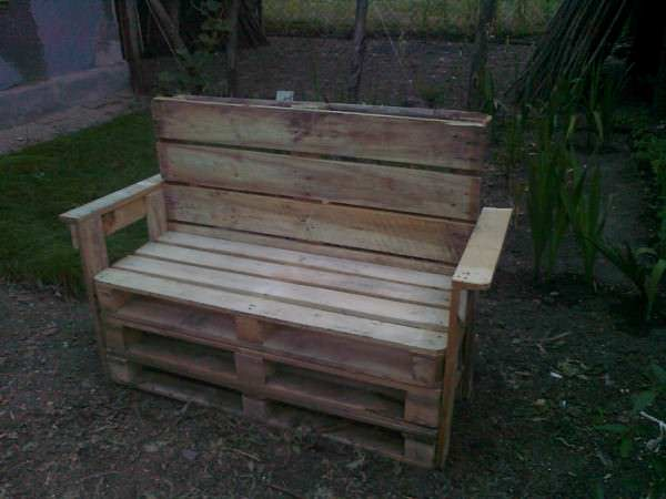 Garden Benches From Reclaimed Wooden Pallets Pallet Benches, Chairs & Stools Pallet For Outdoor Projects