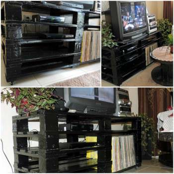 Rack feito com Pallets / Pallets TV Stand
