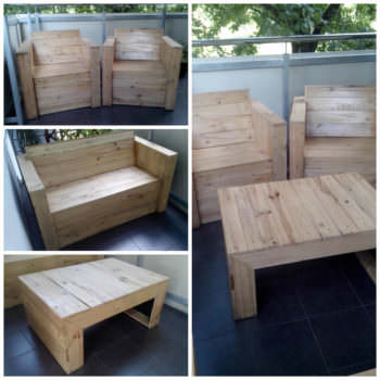 My first project with recycled pallets