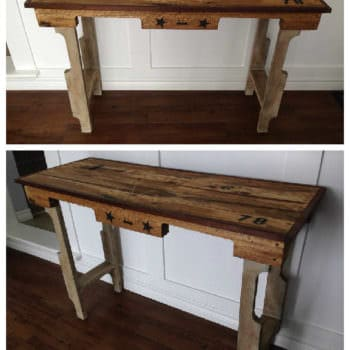 Entrance or Sofa Table From Recycled Pallets