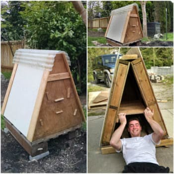 Chicken Coop Made From 3 Recycled Pallets