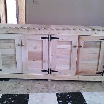 Giant Cabinet Made Out Of Pallets