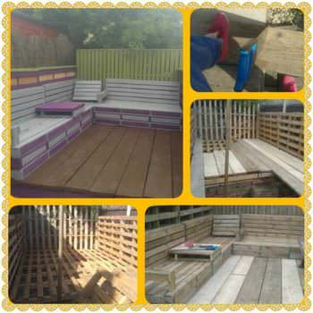 Pallet Deck & Seating Area