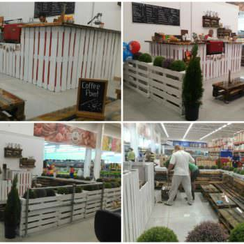 Сoffee Shop Made Out Of Discarded Pallets