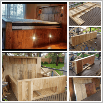 King Size Pallet Bed With Storage & Lights