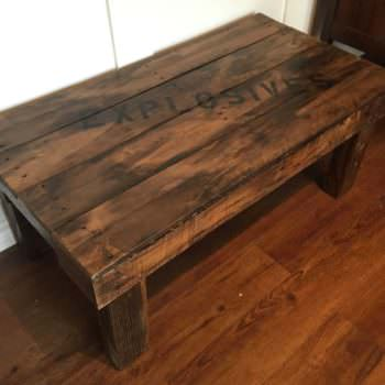 """Explosives"" Pallet Coffee Table"