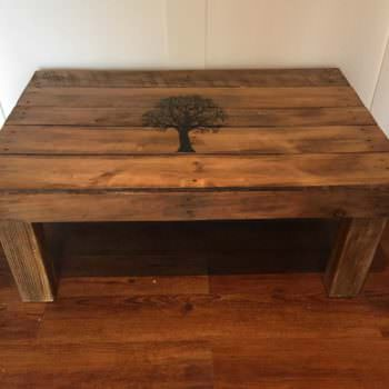 """Fall Tree"" Pallet Coffee Table"